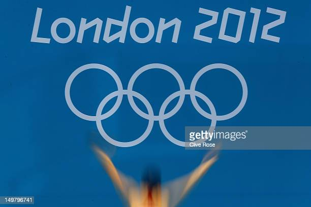 Katja Dieckow of Germany competes in the Women's 3m Springboard Diving Semifinal on Day 8 of the London 2012 Olympic Games at the Aquatics Centre on...