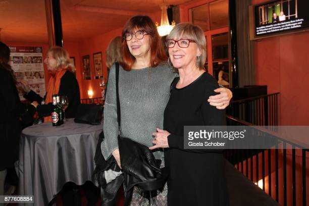 Katja Ebstein and Heidelinde Weis during the 'Josef und Maria' premiere at 'Komoedie' theatre on November 22 2017 in Munich Germany