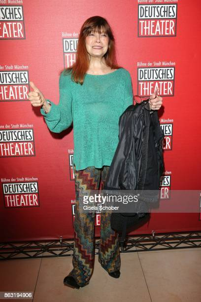 Katja Ebstein during the musical premiere of 'Santa Maria' at Deutsches Theater on October 19 2017 in Munich Germany