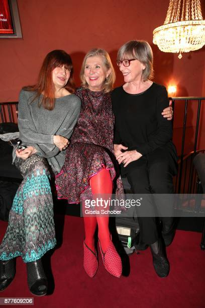 Katja Ebstein Jutta Speidel and Heidelinde Weis during the 'Josef und Maria' premiere at 'Komoedie' theatre on November 22 2017 in Munich Germany