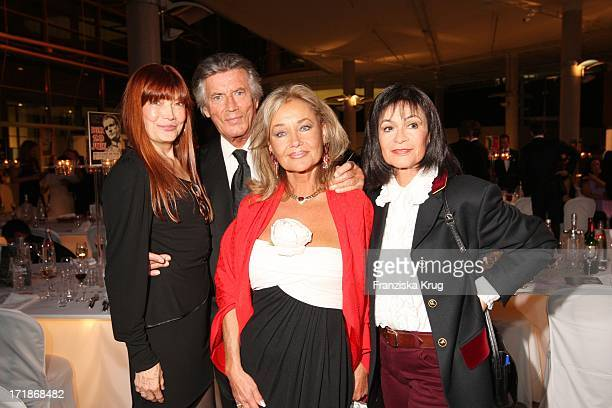Katja Ebstein Pierre Brice With Wife Hella And Marie Versini at the 90th birthday of Artur Brauner In Berlin On 130908