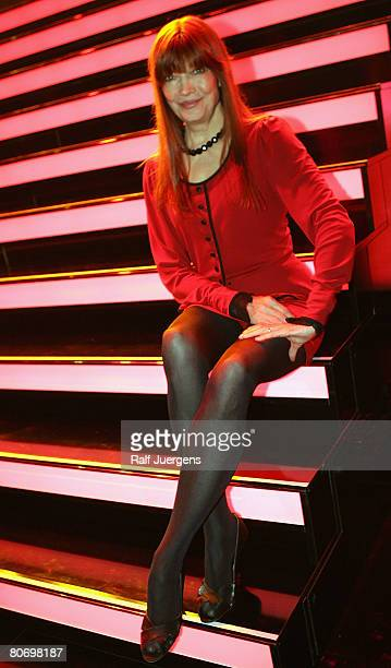 Katja Ebstein poses after the singing contest 'MusicalShowstar 2008' on April 16 2008 at the Coloneum in Cologne Germany