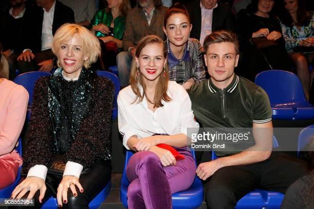 Katja Eichinger Alicia von Rittberg LisaMarie Koroll and Jannik Schuemann attend the 'Fack ju Goehte Se Mjusicael' Musical Premiere at Werk 7 Theater...