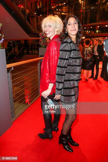 Katja Eichinger and director Emely Artef attend the opening party of the 68th Berlinale International Film Festival Berlin at Berlinale Palace on...