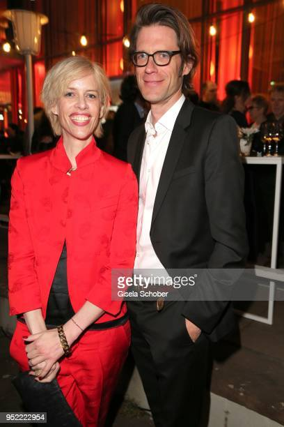 Katja Eichinger and Moritz von der Groeben during the Lola German Film Award party at Palais am Funkturm on April 27 2018 in Berlin Germany