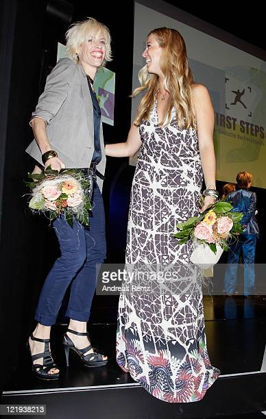 Katja Eichinger and Nina Eichinger attend the First Steps Award 2011 after show party at the Theater Am Potsdamer Platz on August 23 2011 in Berlin...