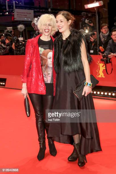 Katja Eichinger and Vicky Krieps attend the Opening Ceremony 'Isle of Dogs' premiere during the 68th Berlinale International Film Festival Berlin at...