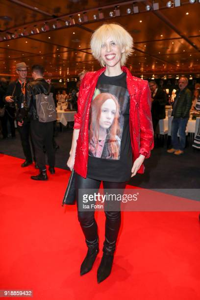 Katja Eichinger attends the opening party of the 68th Berlinale International Film Festival Berlin at Berlinale Palace on February 15 2018 in Berlin...