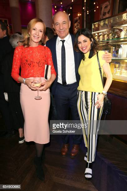 Katja Flint and her former husband Heiner Lauterbach and his wife Viktoria Lauterbach during the BUNTE BMW Festival Night 2017 during the 67th...