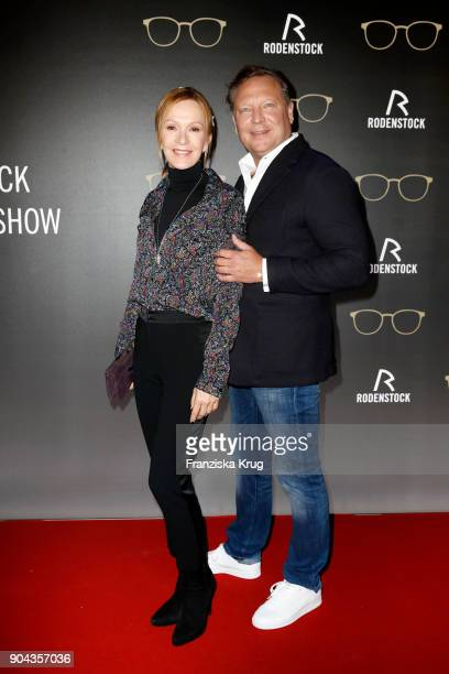 Katja Flint and Oliver Kastalio CEO Rodenstock during the Rodenstock Eyewear Show on January 12 2018 in Munich Germany
