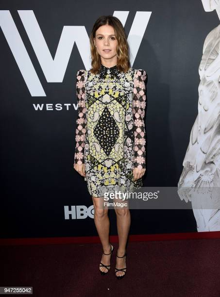 Katja Herbers attends the Los Angeles Season 2 premiere of the HBO Drama Series WESTWORLD at The Cinerama Dome on April 16 2018 in Los Angeles...