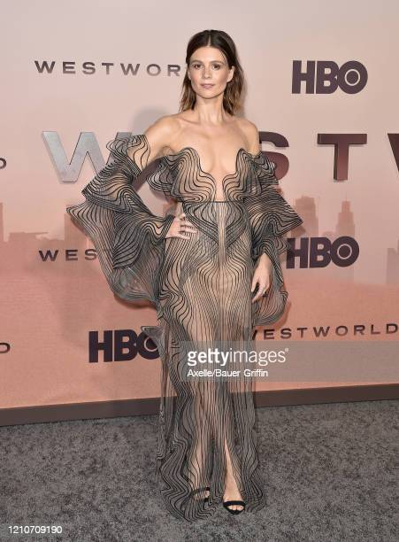 """Katja Herbers attends the premiere of HBO's """"Westworld"""" Season 3 at TCL Chinese Theatre on March 05, 2020 in Hollywood, California."""