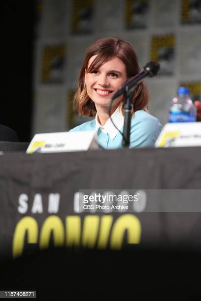 Katja Herbers during the 2019 ComicCon International San Diego Panel for EVIL The series premieres Thursday Sept 26 on the CBS Television Network