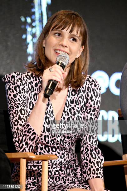 """Katja Herbers speaks during """"Evil"""" Exclusive Screening and Panel Discussion at New York Comic Con at Jacob K Javits Convention Center on October 03..."""