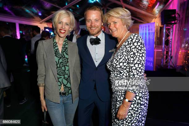 Katja Hofmann Stefan Konarske and Monika Gruetters attend the German Reception during the 70th annual Cannes Film Festival at Villa Rothschild on May...