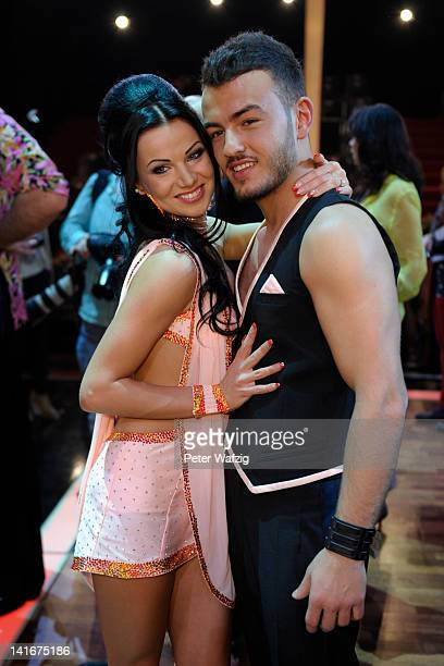 Katja Kalugina and Ardian Bujupi pose during the 'Let's Dance' TV Show photocall on March 21 2012 in Cologne Germany