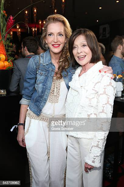Katja Kessler and Susanne Juhnke widow of Harald Juhnke during the MasterCard Priceless Fashion Kitchen Party at Shan Rahimkhan's Bistro during the...