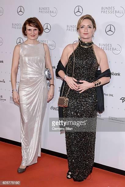 Katja Kipping and Caren Lay attend the 65th Bundespresseball at Hotel Adlon on November 25 2016 in Berlin Germany