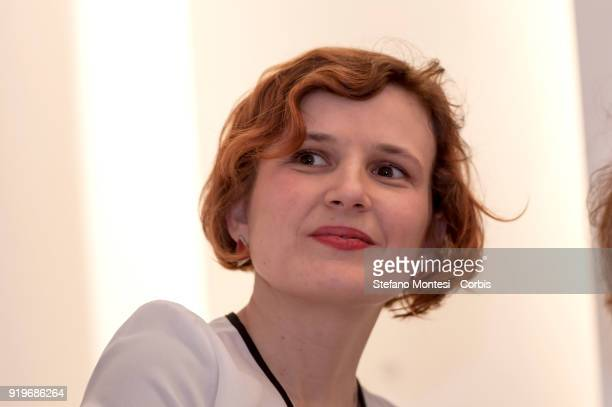 Katja Kipping chairperson of the Left Party and a member of the Bundestag takes part at the meeting promoted by the Association for the Renewal of...