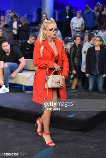 Katja Krasavice during the finals of Promi Big Brother 2018 at MMC Studios on August 31 2018 in Cologne Germany