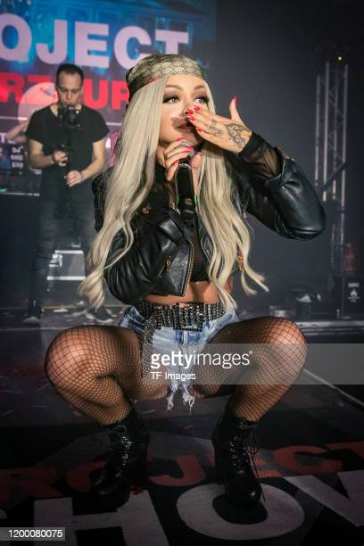 Katja Krasavice performs at Posthalle on February 8 2020 in Wuerzburg Germany
