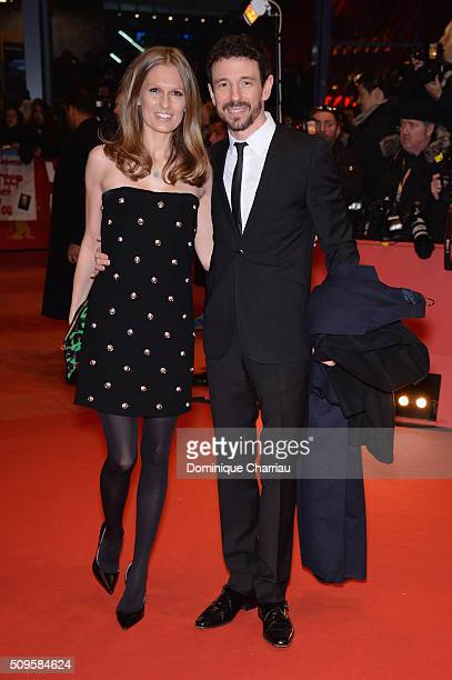 Katja Kraus and Oliver Berben attend the 'Hail Caesar' premiere during the 66th Berlinale International Film Festival Berlin at Berlinale Palace on...