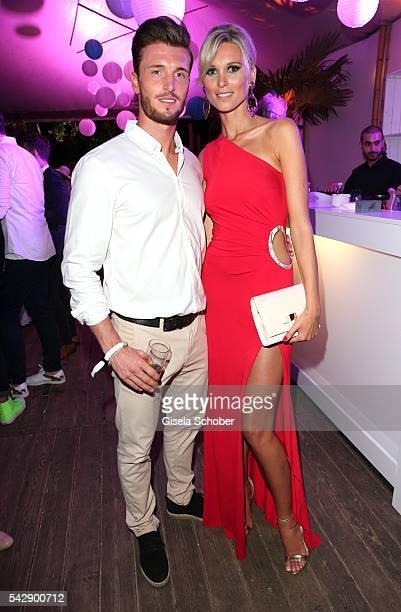 Katja Kuehne and her boyfriend soccer player Quirin Moll during the Raffaello Summer Day 2016 to celebrate the 26th anniversary of Raffaello on June...