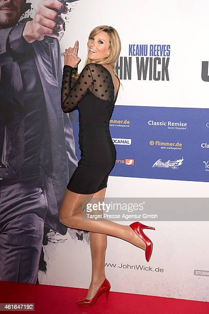Katja Kuehne attends a special preview of the film 'John Wick' on January 16 2015 in Berlin Germany