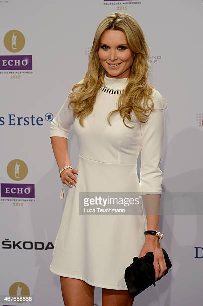 Katja Kuehne attends the Echo Award 2015 Red Carpet Arrivals on March 26 2015 in Berlin Germany