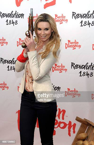 Katja Kuehne attends the 'Revolution 1848' Show premiere at Berlin Dungeon on March 18 2015 in Berlin Germany
