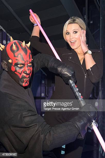 Katja Kuehne attends the Star Wars event at Madame Tussauds on May 11 2015 in Berlin Germany