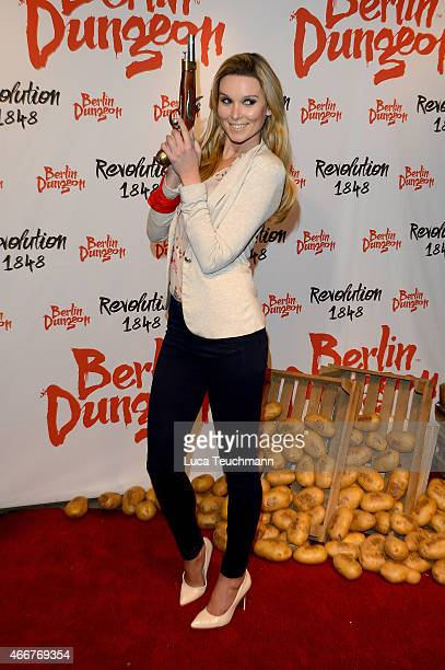 Katja Kuehneattends 'Revolution 1848' Show Premiere at Berlin Dungeon on March 18 2015 in Berlin Germany