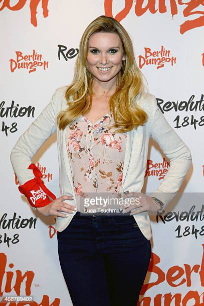 Katja Kuehneattends 'Revolution 1848' Show Premiere at Berlin Dungeon on March 18 2015 in Berlin Germany