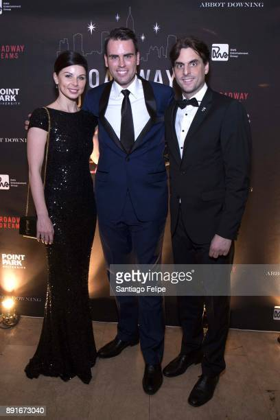 Katja Mack Ryan Stana and Thomas Mack attend the 10th Annual Broadway Dreams Supper at The Plaza Hotel on December 12 2017 in New York City