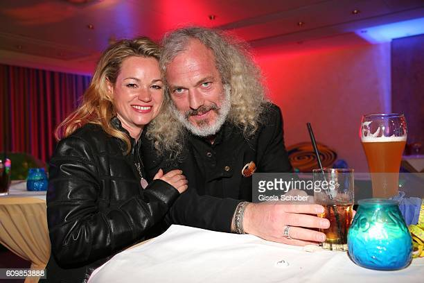 Katja Ohneck and Harald Siebler during the surprise party for Erdogan Atalay's 50th birthday at Hotel Arkona on September 22 2016 in Binz Germany