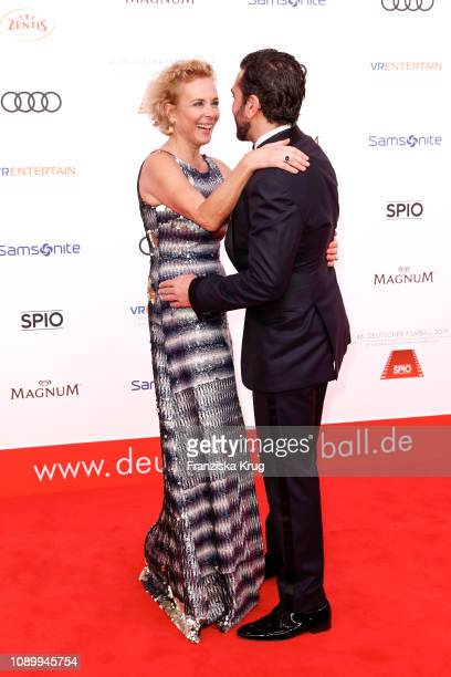 Katja Riemann and Elyas MBarek during the 46th German Film Ball at Hotel Bayerischer Hof on January 26 2019 in Munich Germany