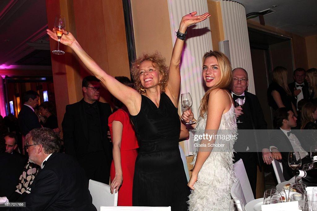 Katja Riemann and her daughter Paula Riemann during the German Filmball 2015 at Hotel Bayerischer Hof on January 17, 2015 in Munich, Germany.