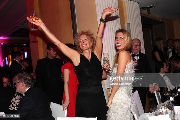 Katja Riemann and her daughter Paula Riemann during the German Filmball 2015 at Hotel Bayerischer Hof on January 17 2015 in Munich Germany
