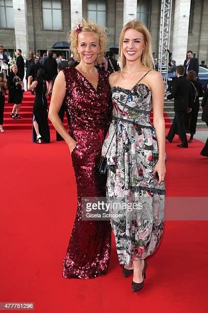 Katja Riemann and Paula Riemann arrive for the German Film Award 2015 Lola at Messe Berlin on June 19, 2015 in Berlin, Germany.