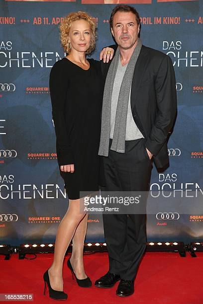 Katja Riemann and Sebastian Koch attend the 'Das Wochenende' Premiere at Kino International on April 4 2013 in Berlin Germany