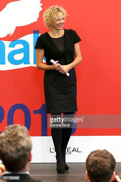 Katja Riemann attends the Award Ceremony of the Independent Juries And EFA Short Film Nominee Berlin during the 63rd Berlinale International Film...