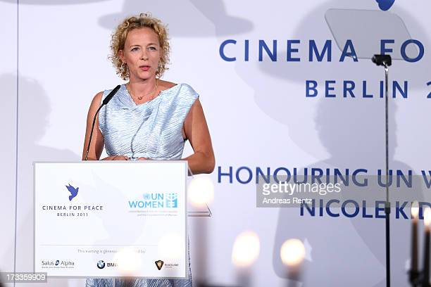 Katja Riemann attends the Cinema for Peace UN women charity dinner at Soho House on July 12 2013 in Berlin Germany