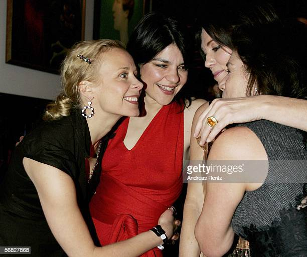 Katja Riemann Jasmin Tabatabai Iris Berben and Hannelore Elsner attend the 'Elementary Particles' premiere party at the China Club at the Adlon Hotel...