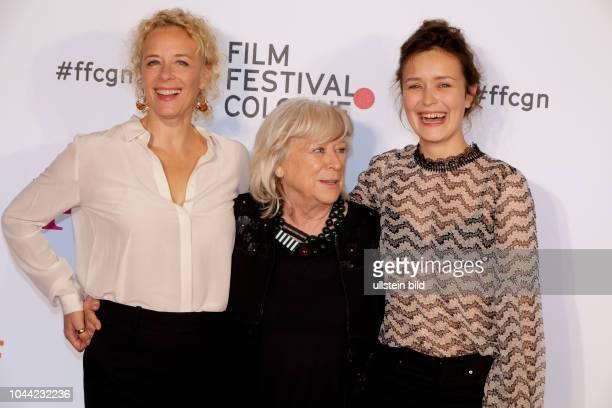 Katja Riemann Margarethe von Trotta und Tinka Fürst bei der Eröffnung des 27 Film Festival Cologne am 29 September 2017 im Filmpalast...