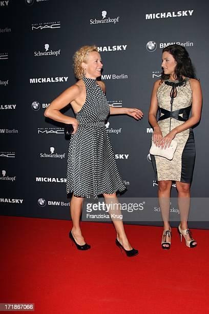 Katja Riemann Minu BaratiFischer at the Michalsky Party In The Mercedes Benz Fashion Week in Berlin