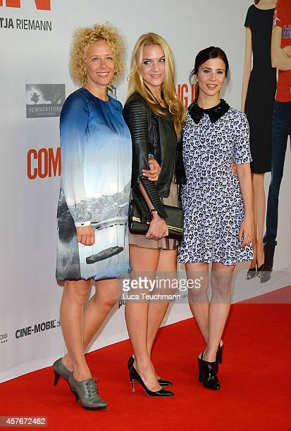 Katja Riemann Paula Riemann and Aylin Tezel attend the 'Coming In' Premiere at Cinemaxx on October 22 2014 in Berlin Germany