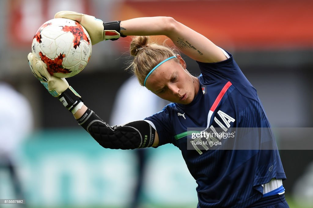 Katja Schroffenegger of Italy women's national team in action during a training session at Sparta Stadion Het Kasteel on July 16, 2017 in Rotterdam, Netherlands.