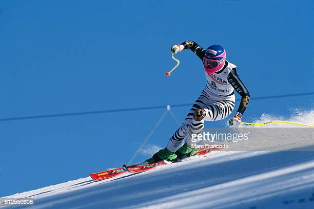 Katja Seizinger from Germany during a women's World Cup Super G
