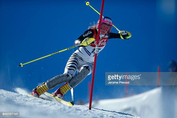 Katja Seizinger from Germany during the women's slalom of the 1996 World Championships