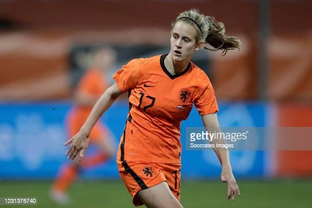 Katja Snoeijs of Holland Women during the International Friendly Women match between Holland v Germany at the Seacon Stadium - De Koel on February...